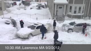 Tormenta de nieve en Lawrence MA 9/2/2012
