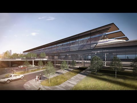 A new look at proposed bullet train station in Houston
