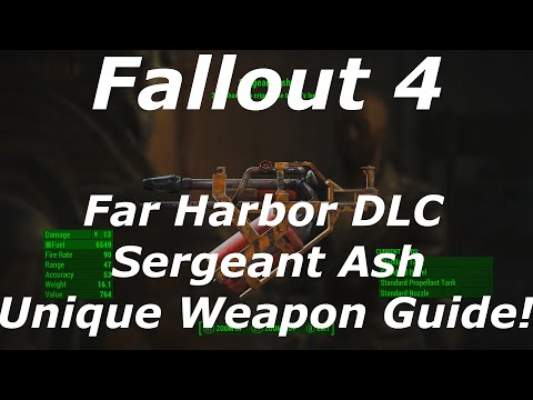"Fallout 4 Far Harbor DLC ""Sergeant Ash"" Unique Weapon Location Guide! (Fallout 4 DLC Weapons)"