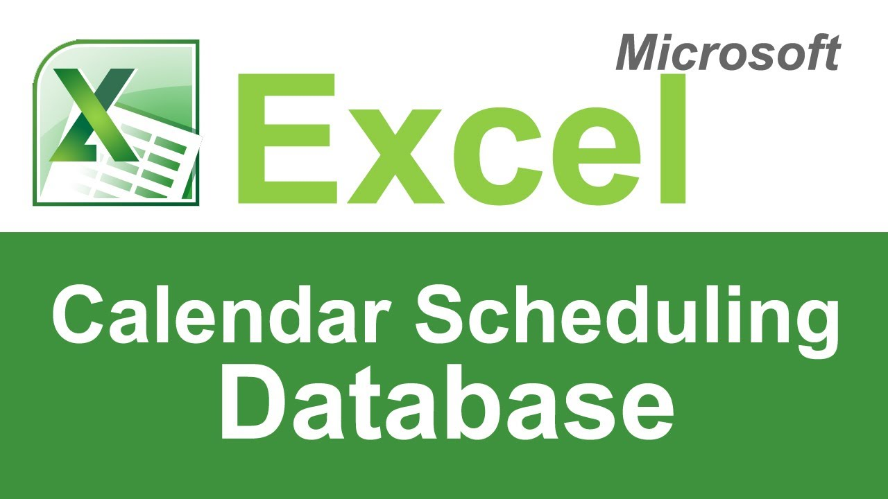 microsoft excel calendar scheduling template youtube
