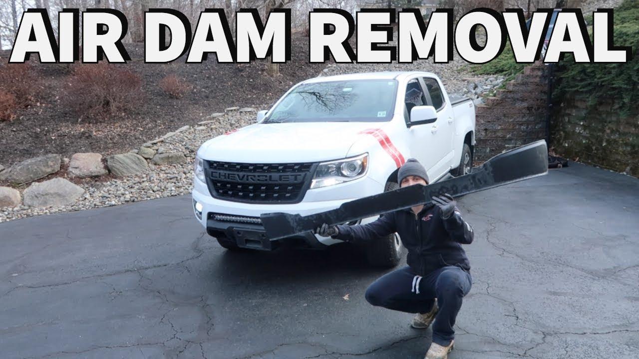 2015-2018 Chevy Colorado - Air Dam Removal - YouTube