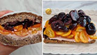 [1분완성] 딸기 크림치즈 금귤 샌드위치 만들기 Mak…