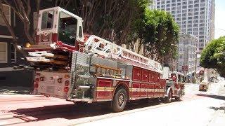San Francisco Fire Department @ Powell St & Pine St San Francisco California