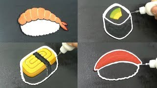 Sushi Pancake Art - Prawn, Avacado, Tuna, Egg