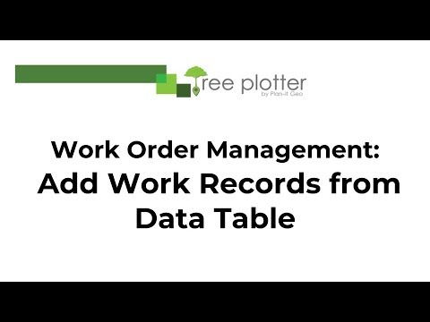 Work Order Management Add Work Records from the Data Table - YouTube - work order table