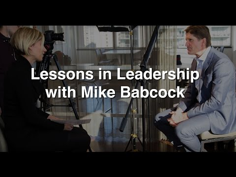 Lessons in Leadership with Mike Babcock, Head Coach, Toronto Maple Leafs