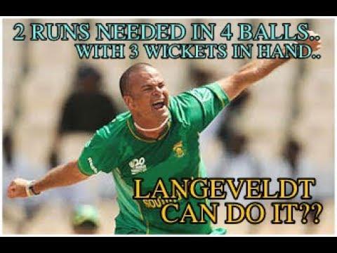 Langeveldt's 👌👌  last over hatrick against WI....