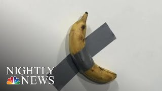 Banana Art Piece Fetches Staggering Amount Of Money At Miami's Art Basel | NBC Nightly News