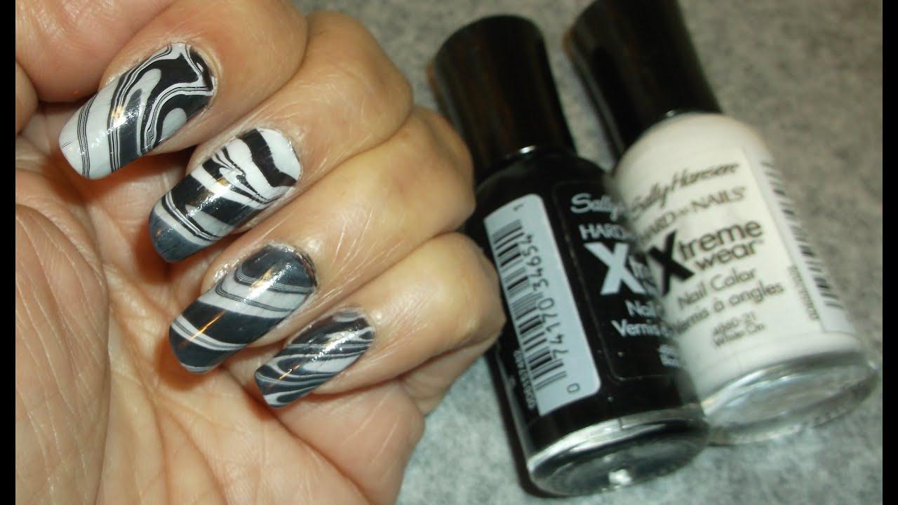 Como pintarse las uñas con agua Muy novedoso, facil y lindo - YouTube