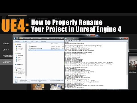 UE4: How to Rename Unreal Engine 4 Projects
