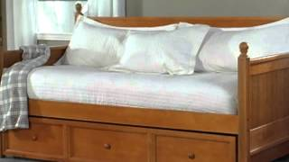 Casey Daybed With Free Mattress Honey Maple - Product Review Video