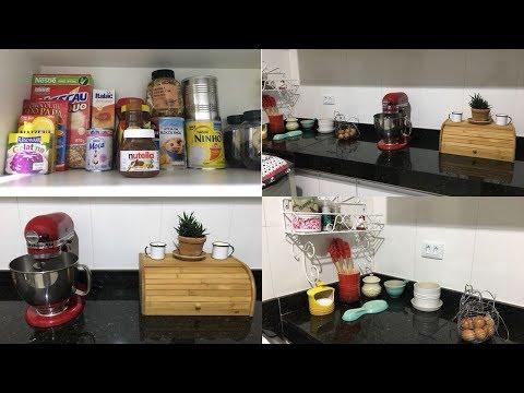Organizei meu armário | Mudei um pouco a cozinha | Chuva e Capuccino!