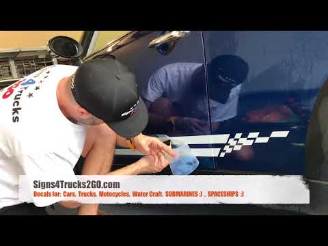 Video N13 How To Easy Install Racing Stripes Kit Side Decals Graphic Mini Cooper Or Any Car