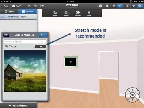 Interior Design for iPad - Applying custom photos to picture frames