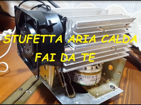 Stufetta aria calda fai da te youtube for Costruire affumicatore fai da te