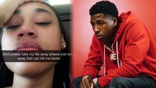NBA YoungBoy Ex Girlfriend Says She Wants To Die And Breaks Down Crying