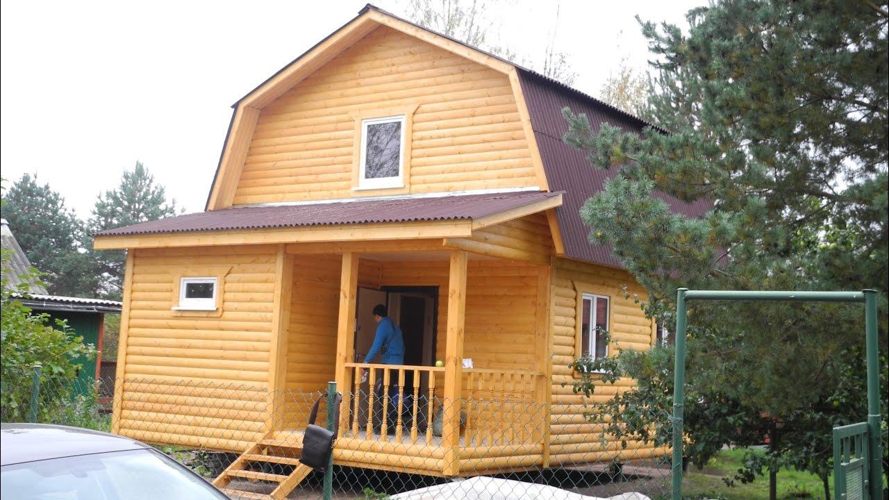 дом 6 на 6 с мансардой фото