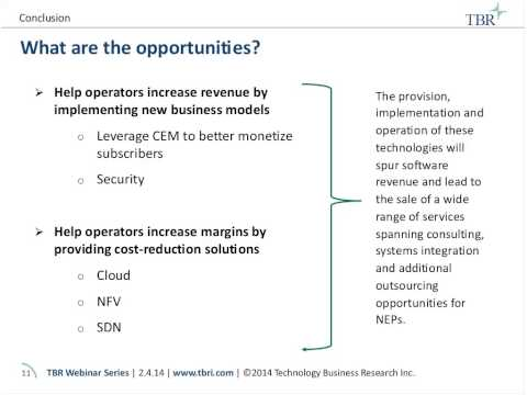 Where will network equipment provider NEP revenue come from in five years