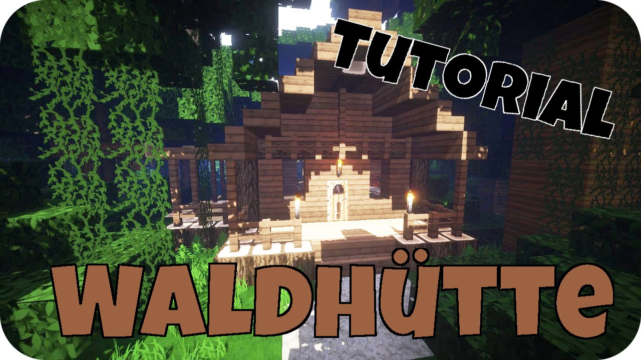 minecraft tutorial wie baue ich ein sch nes haus 11 waldh tte. Black Bedroom Furniture Sets. Home Design Ideas