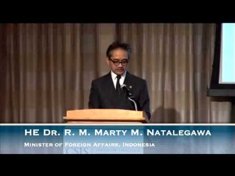 The Indonesia Conference:His Excellency Dr. R. M. Marty M. Natalegawa  Minister of Foreign Affairs