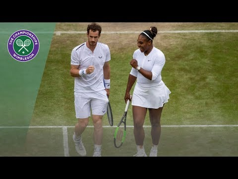 Andy Murray/Serena Williams vs Raquel Atawo/Fabrice Martin Wimbledon 2019 Second Round Highlights