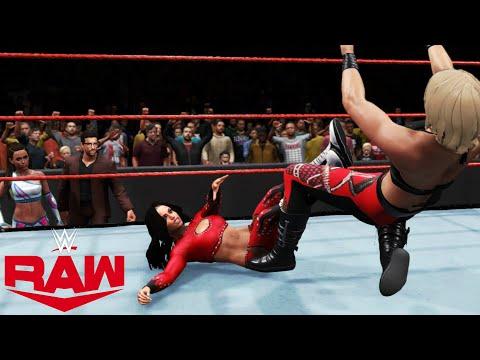 WWE 2K20 RAW ALIYAH (W/ROBERT STONE & CHELSEA GREEN) VS RHEA RIPLEY