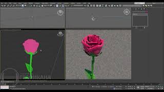 3ds Max | Моделирование цветка розы.