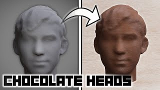 I made my friend's face in CHOCOLATE*