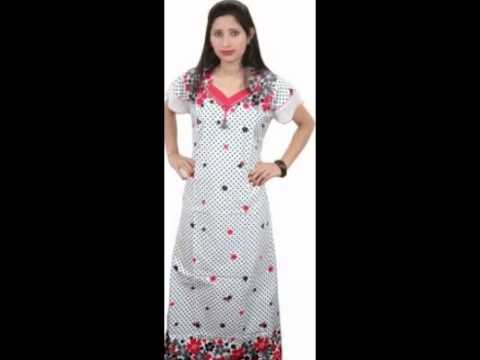 5d3fb52809 Women s Maxi Nighty By Indiatrendzs - YouTube