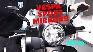 Custom Sport Mirrors for Vespa GTS 300 Super Primavera and Sprint