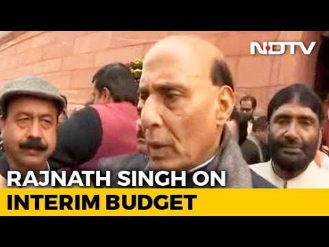 "Budget 2019: Union Minister Rajnath Singh Praises Budget 2019, Calls It ""Historic"""