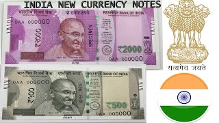 NEW Indian 500 and 2000 Rupee Notes - Indian Currency