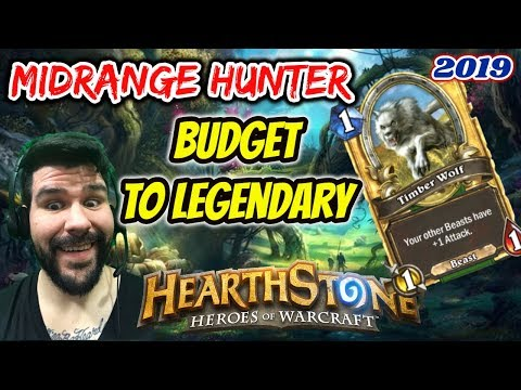Hearthstone: Budget to Legendary Mid Range Hunter post rotation deck.