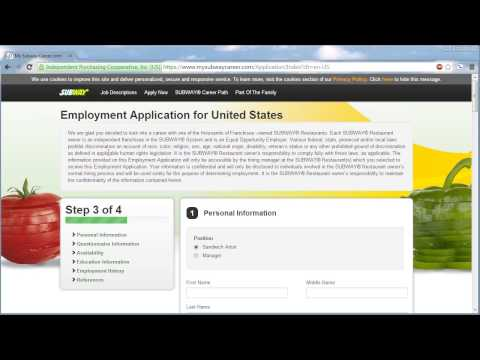 Subway Application Online Video