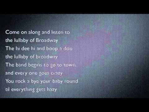 lullaby of broadway alto