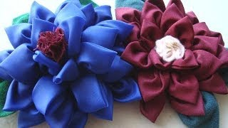 AWESOME MULTI-PETAL FLOWER, fabric flower tutorial, beautiful silky flower