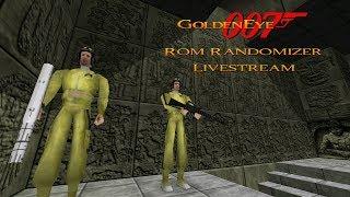 GoldenEye 007 N64 - Full Playthrough Livestream - ROM Randomizer #2