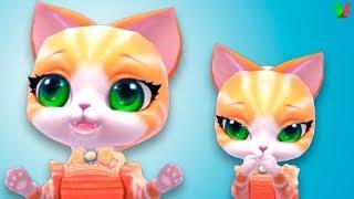 Мой Пушистик #3 Ухаживаем за виртуальным питомцем Мультик для Детей   Игра про Котенка
