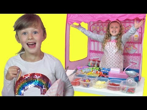 Isla is a Kid in a Candy Store when Ava Opens a REAL Sweet Shop !