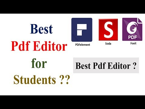 Which PDF Editor Is Best For Students?? PDFelement, Foxit, Soda || Best PDF Editor For Students |