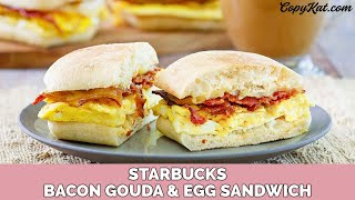 Starbucks Bacon And Gouda Artisan Breakfast Sandwich