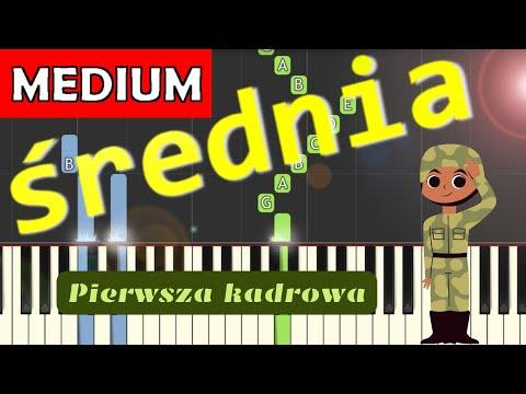 🎹 Pierwsza Kadrowa - Piano Tutorial (średnia wersja) 🎹