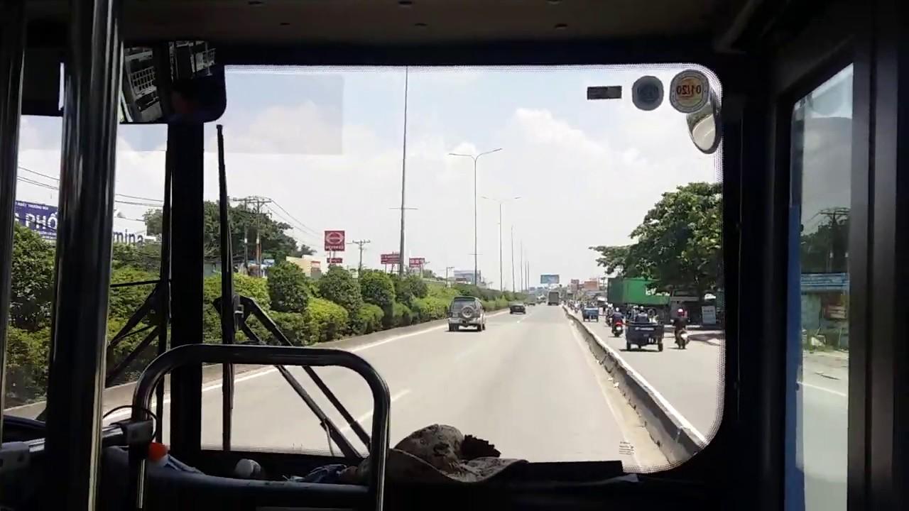 Xe buýt tuyến 33 (BX An Sương- Suối Tiên- ĐH Quốc Gia )chạy quốc lộ 1 luôn 5 sao SAMCO CITY H68 CNG