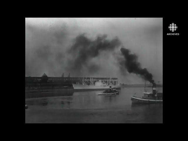 En 1958, l'avenir du port de Montréal quand ouvrira la Voie Maritime du Saint-Laurent