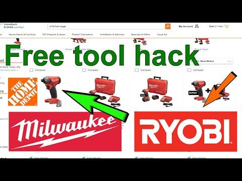 Free Tool Milwaukee Ryobi Hack Home Depot