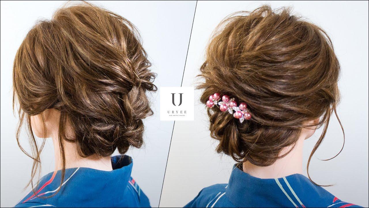 夏祭り 花火大会を彩る浴衣の髪型 ミディアムボブ ヘアアレンジ