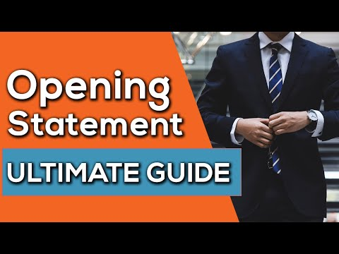 ULTIMATE GUIDE To Opening Statements At Trial - 10 Steps To SUCCESS!