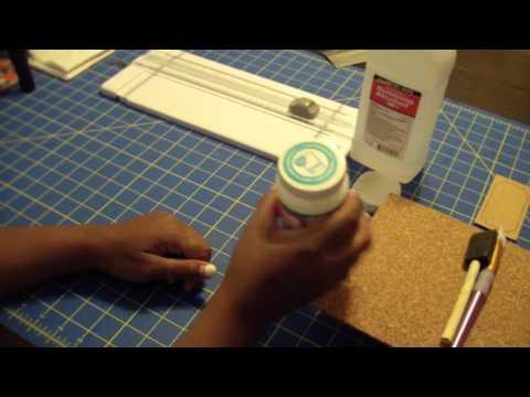 Part 1 of 3 DIY Tile Coasters / 1st video teaching a DIY