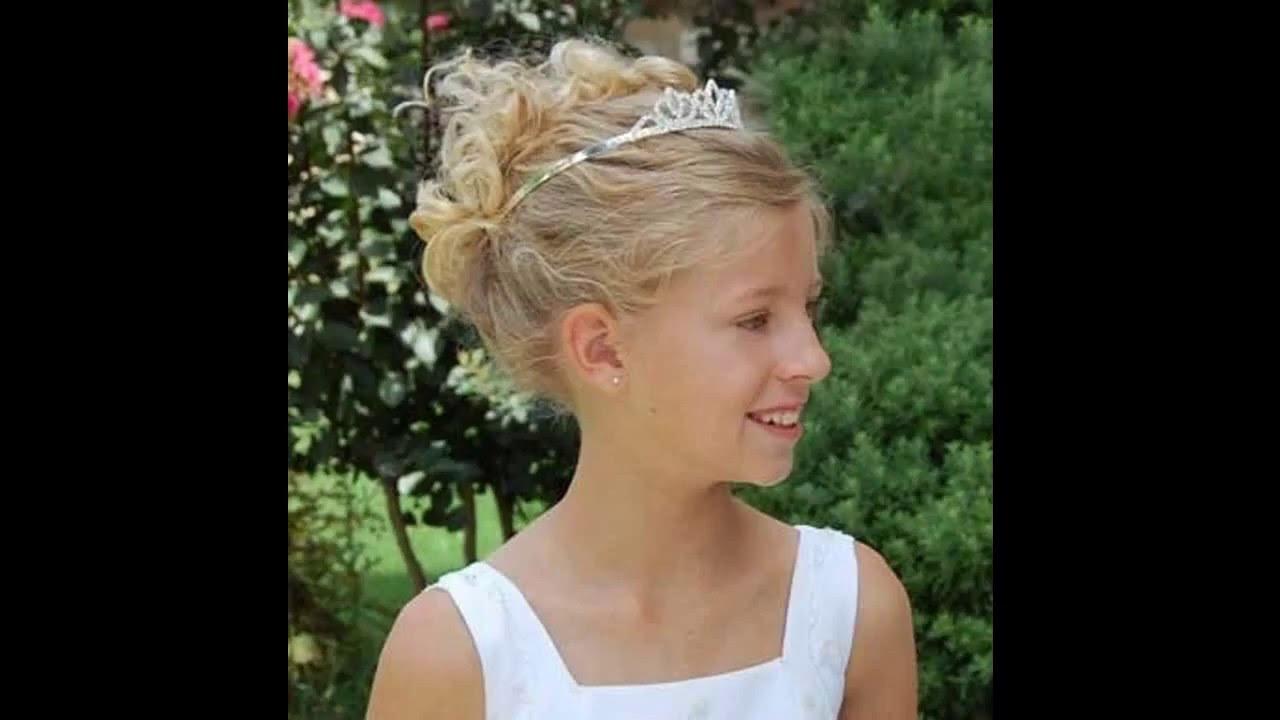 Little girl wedding hairstyles - YouTube