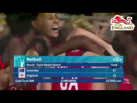 Team England Win Historic Netball Gold At The Gold Coast 2018 Commonwealth Games Against Australia